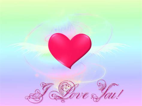 fonds decran st valentin amour coeurs anges  fleurs