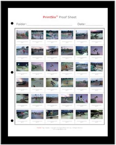 Proof Sheet Template gagivebit proof sheet template