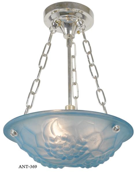 Chandelier Synonym Vintage Hardware Lighting Deco Signed Degue Ceiling Bowl Chandelier Ant 369