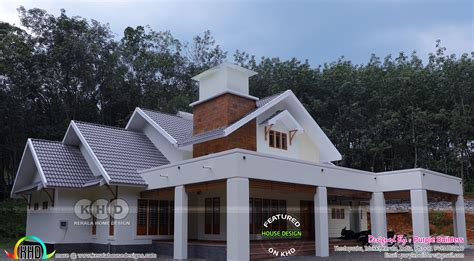 work finished house in kerala home design and floor plans photos woody nody work finished 4 bedroom sloping roof house in kerala