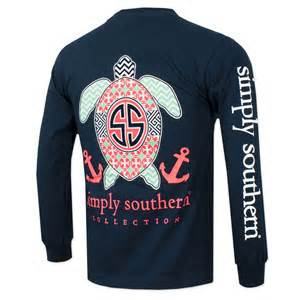 Mud Pie Christmas Decor - simply southern turtle anchor long sleeve shirt navy