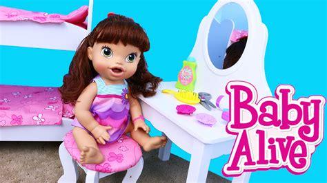 baby alive bed baby alive doll vanity kidkraft wooden furniture bedroom