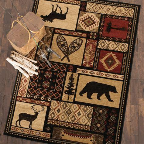 cabin decor rugs lodge rug 2 x 3