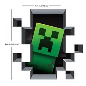 Minecraft Wall Stickers minecraft vinyl wall graphics creatures 4 pack wall stickers