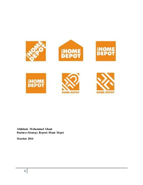 home depot strategy report