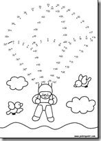 Unir puntos dibujos infantiles | Colorear dibujos infantiles