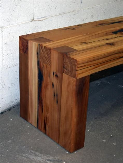 reclaimed wood box joint bench coffee table diy
