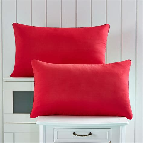 discount bed pillows wedding red pillows 2pcs lot size 46x72cm standing