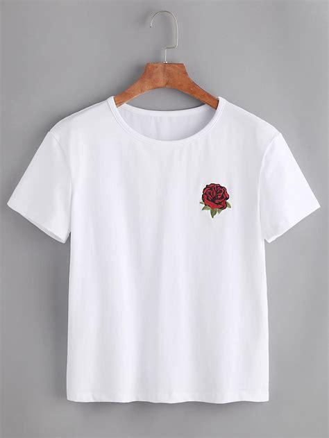 Embroidered Shirt embroidered tshirt shein sheinside