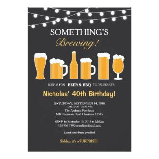 Sle Birthday Invitation Card For Adults Adult Birthday Invitations Announcements Zazzle Co Uk