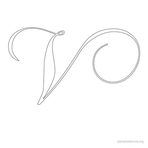 fancy letter templates alphabet stencils calligraphy v ideas