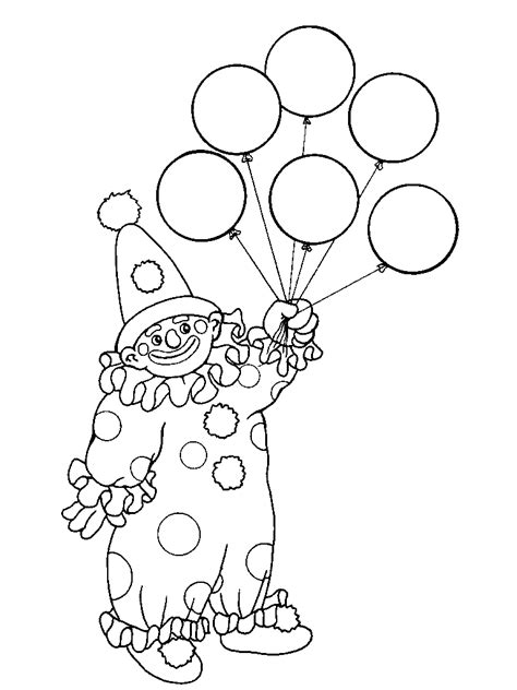 Clown Coloring Pages Coloring Pages To Print Clown Coloring Page