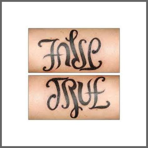 tattoo fonts reversible ambigram mirror image tattoos should i
