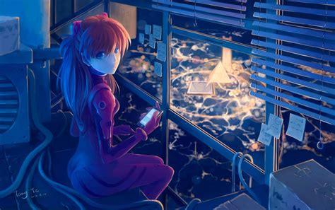 wallpaper engine evangelion asuka langley soryu anime girl wallpapers driverlayer