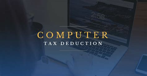 Tax Deduction for Computer or Laptop?