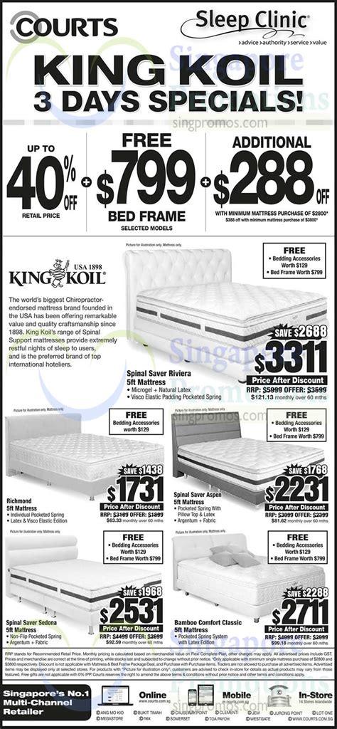 king koil bamboo comfort classic king koil mattresses spinal saver riviera richmond