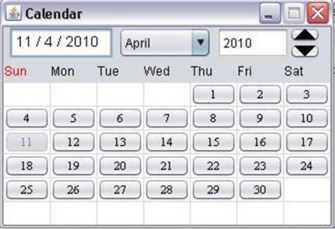 Java Calendar Java Code Spot Java Calendar