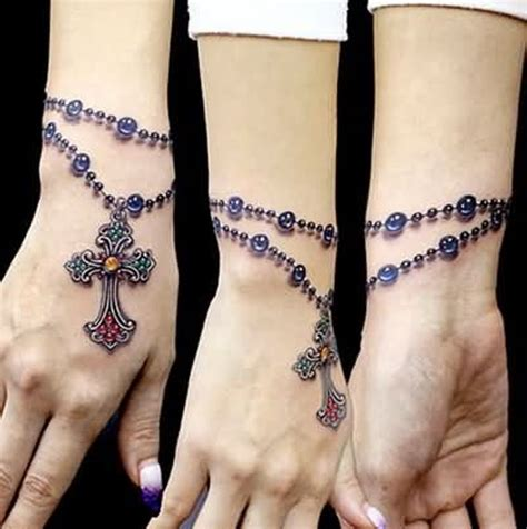stylish cross tattoos  wrists