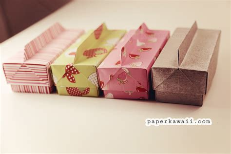 Kawaii Origami - origami box lid with handle paper kawaii