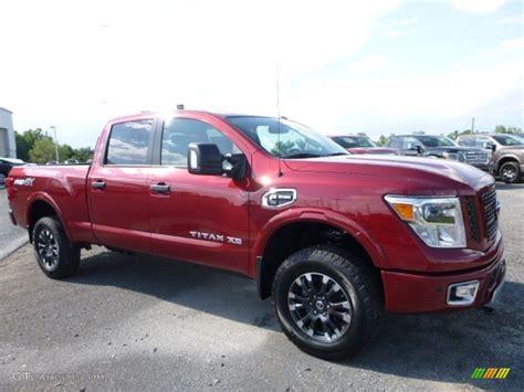 nissan truck titan red 2016 cayenne red nissan titan xd pro 4x crew cab 4x4