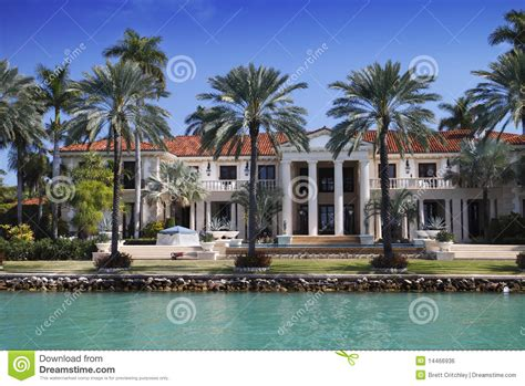 Water Front House Plans by Miami Mansion Royalty Free Stock Image Image 14466936