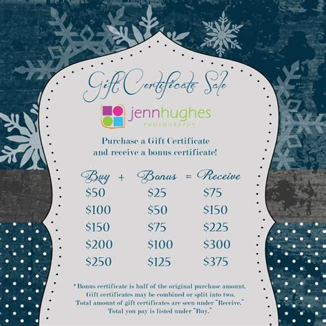 gift certificate sale 187 jenn hughes photography