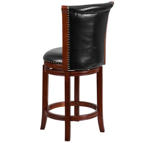 Black Leather Counter Height Stools by 26 High Chestnut Wood Counter Height Stool With