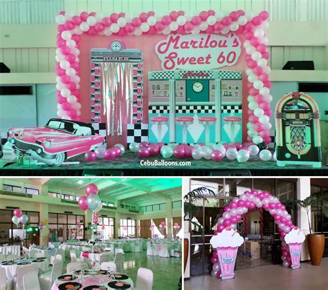 1950s theme decorations 1950s 60s cebu balloons and supplies
