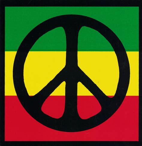 peace colors peace sign black rasta colors peace symbol bumper