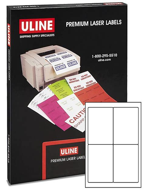 uline label templates for word uline weather resistant laser labels 4 x 6 quot s 19299 uline