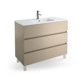 Impressionnant Meuble Salle De Bain Tiroir Coulissant #2: meuble-salle-de-bain-100-cm-3-tiroirs-plan-vasque-porcelaine-blanche-fussion-line.jpg