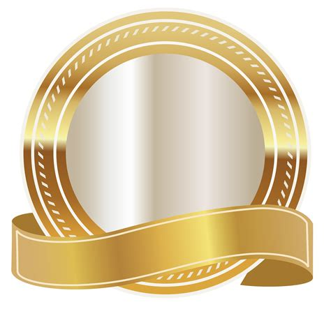 high quality clipart gold seal with gold ribbon png clipart image gallery