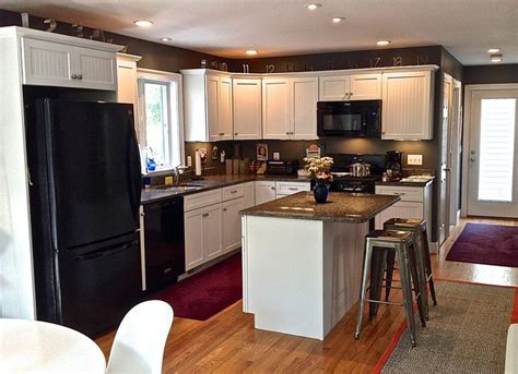 l shaped kitchen island house kitchen pinterest contemporary kitchen with recessed beadboard panel
