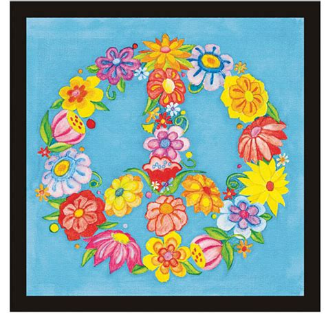 paint by number peace sign with watercolor ecopencils stuff toys