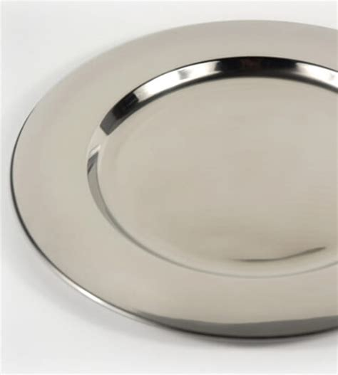 12 charger plates charger plate stainless steel 12in