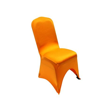orange slipcover orange spandex chair covers