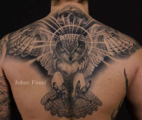 skull back tattoos owl skull back best design ideas