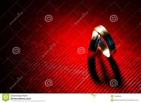 heart shadow  wedding rings royalty  stock