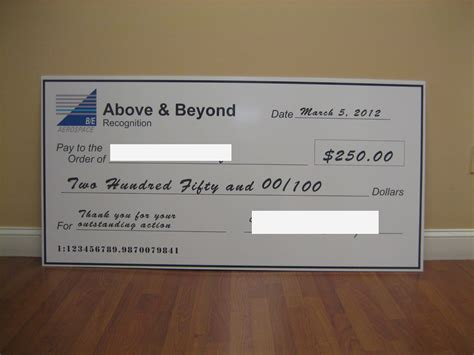Top Class Signs And Printing S Blog Memorable Donations Oversized Cheque Template