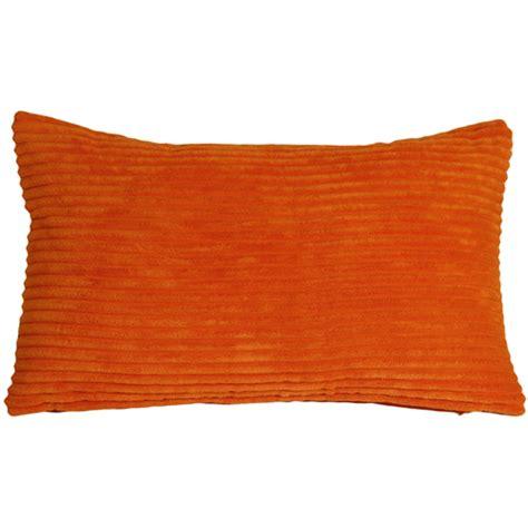 Corduroy Throw Pillows by Wide Wale Corduroy 12x20 Papaya Orange Throw Pillow From