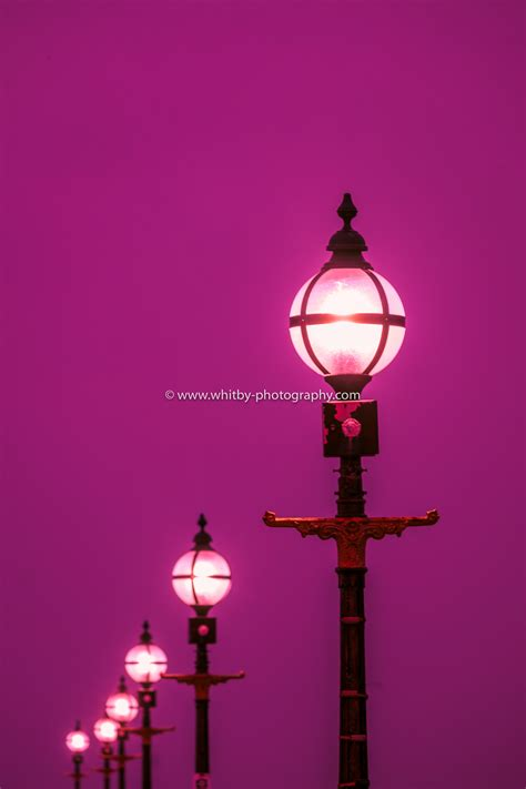 Pier Lights by The Lights On Whitby Piers Whitby Photography