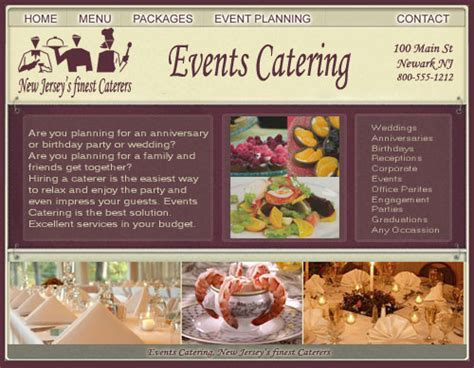 Restaurant Website Design   Catering Website Design