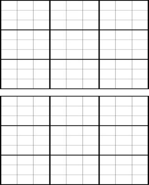 sudoku template free blank sudoku grid for doc pdf
