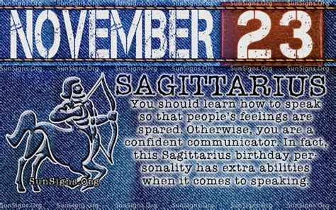 november 23 birthday horoscope personality sun signs