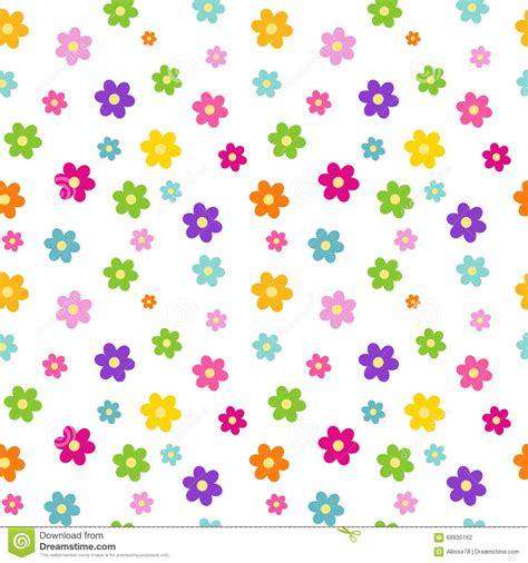 daisy background pattern vector colorful rainbow cartoon daisy flowers seamless pattern