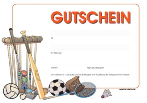 Muster Geschenkgutscheine Vorlagen Gutschein Sport Sportger 228 Te Zum Downloaden Und Ausdrucken