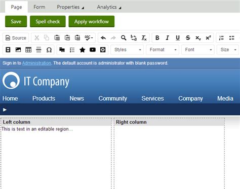 aspx net templates creating aspx page templates kentico 8 documentation