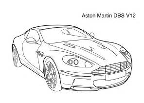 Aston Martin Coloring Pages Aston Martin Dbs V12 Coloring Page Coloring Pages