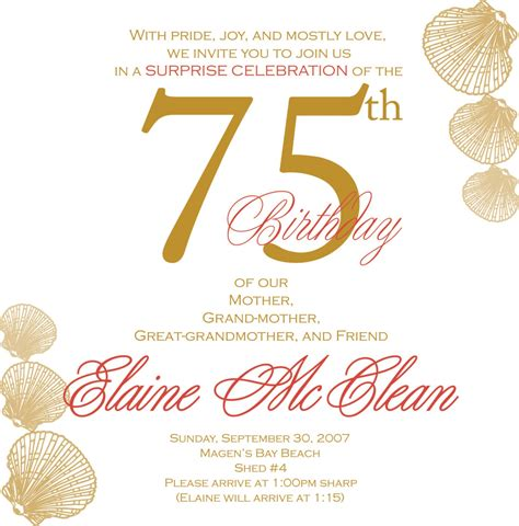 75th birthday invitation template alanarasbach com