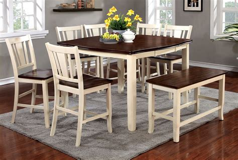White Counter Height Dining Table Buy Furniture Of America Cm3326wc Pt Set Dover Ii White Cherry Counter Height Dining Table Set